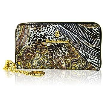 ecc4e4eade54 Amazon.com  Marino Orlandi Italian Designer Jungle Metallic Glitter Leather  Ziparound Wallet Clutch  DesignerItalianBags.com.