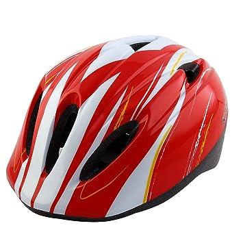 Sourcingmap – ® Niños Niñas ajustable cinturón extraíble maletero patinaje casco de seguridad bicicleta de carretera