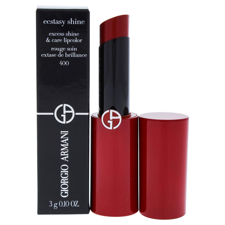 Giorgio Armani Ecstasy Shine Lipstick, 400 Four Hundred, 0.1 Ounce