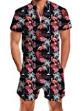 uideazone Men Summer Shorts 3D Printed Bro Romper Jumpsuit One Piece Romper Outfits - - X-Large