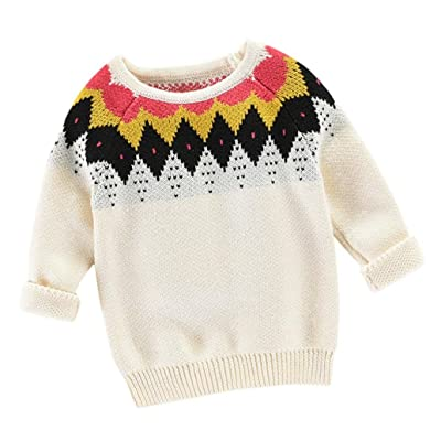 74d7a29dd97 Foutou Toddler Girls Boys Kids Knitted Sweater Pullover Warm Coat Kids  Outerwear Clothes