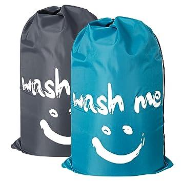 Amazon.com: Juego de 2 bolsas de lavandería de viaje ...