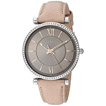 Damen Armband Es4343 Fossil Analog Uhr Quarz Mit Leder A435RLcjqS