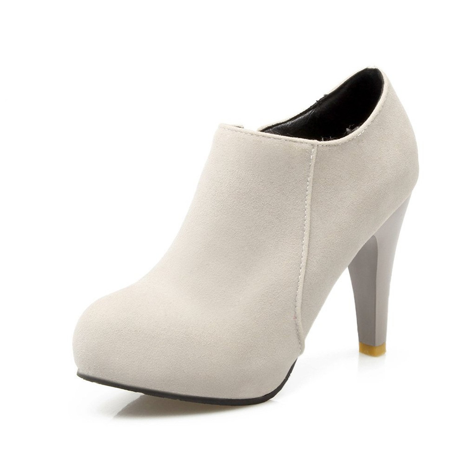 Zalezing Womens Round Toe Toe Round High Heel Ankle Boots B06VT56HSW Boots fba64a
