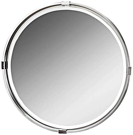 Uttermost Tazlina Brushed Nickel 29 1 2 Round Wall Mirror