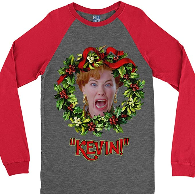 22nd Century Kevin Home Alone Christmas Baseball Long Sleeve T Shirt