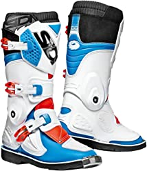 Sidi Youth Kids Flame MX Boots (37/4.5, Blue/White/Red