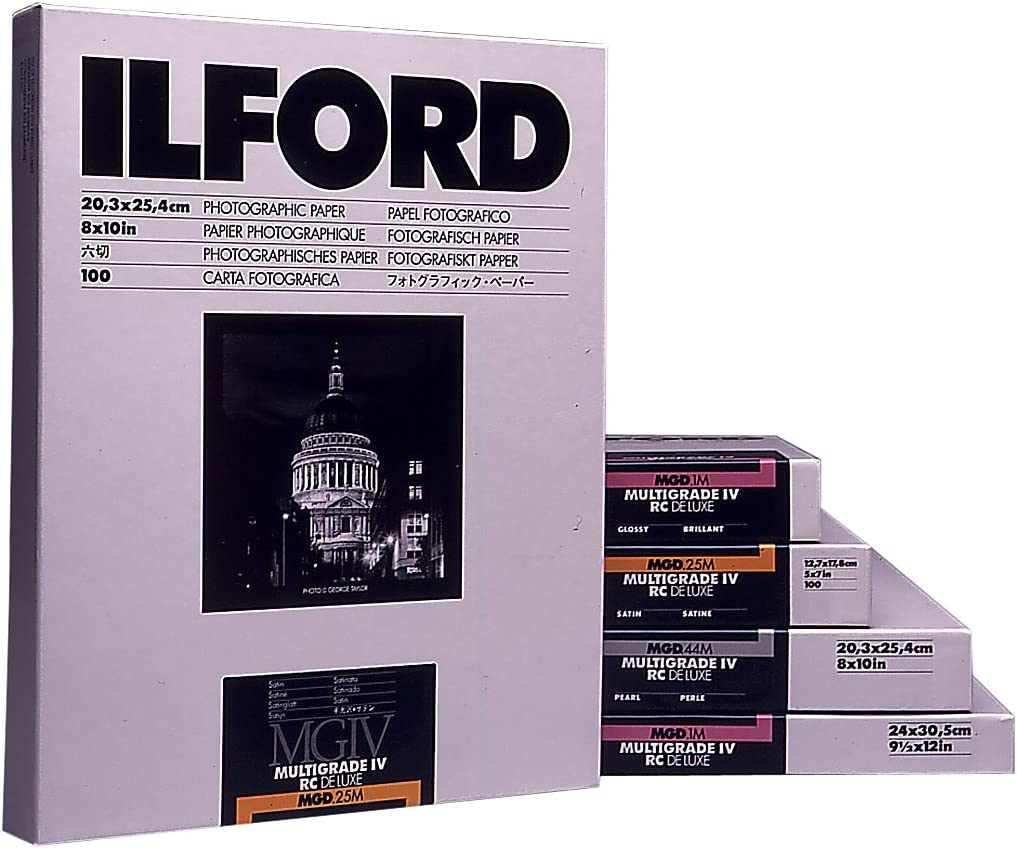 Ilford Ilfospeed RC Deluxe is .44 m Pearl Photographic Paper 17.8 x 24 cm 10 Sheets Grade 2