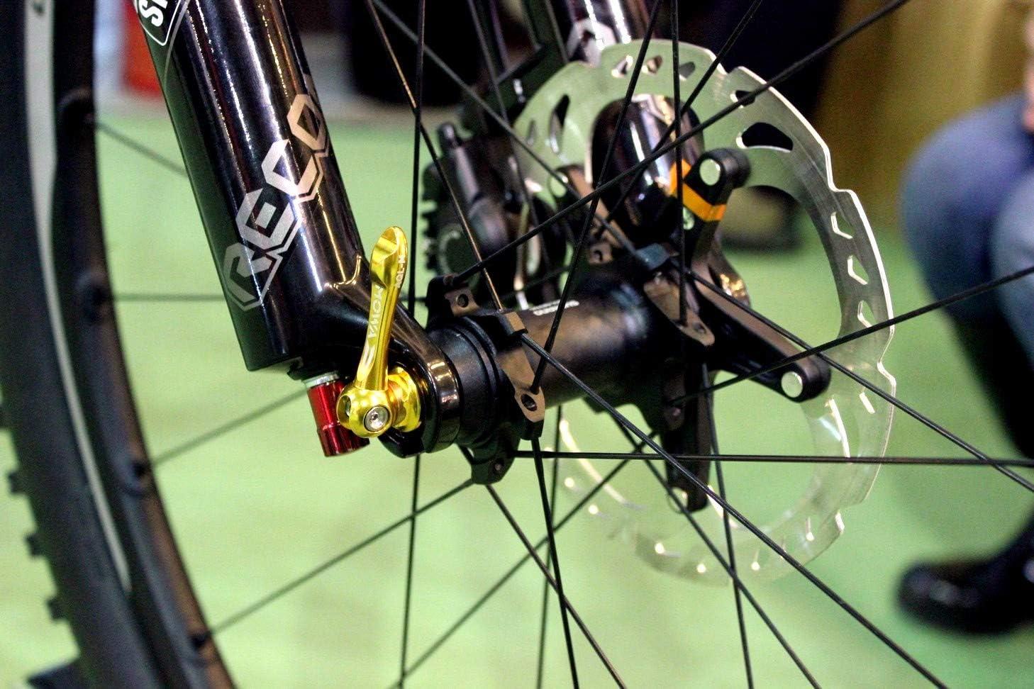 MOWA Road Cyclocross Cycling Bike Titanium Quick Release Ti QR Skewer Set Orange