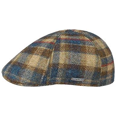 Stetson Gorra Texas Virgin Wool Check Hombre | Made in The EU de Invierno Gorro Ivy Lana con Visera, Forro otoño/Invierno: Amazon.es: Ropa y accesorios