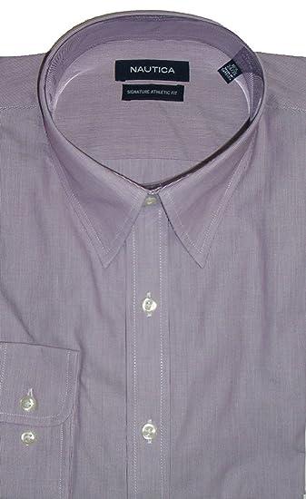 Nautica Men S Signature Athletic Fit Shirt Size 16 1 2 34 35