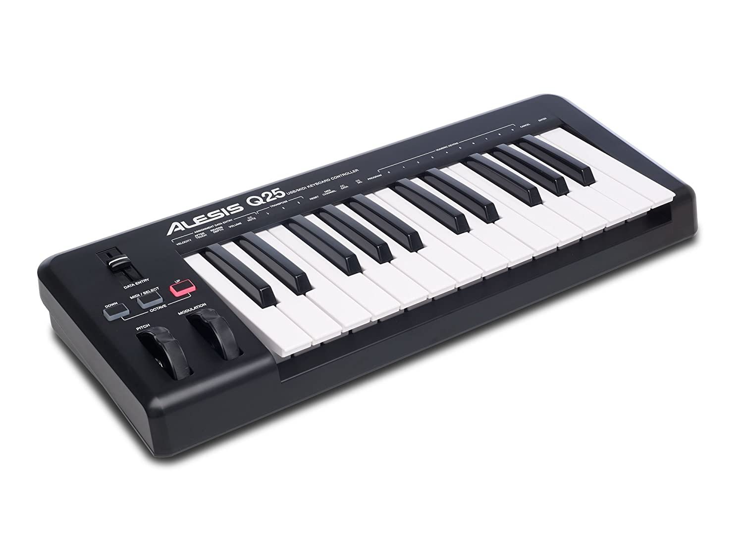 Alesis Q25, Controller MIDI with 25 Velocity Sentitive Keys, Pitch & Modulation Wheels and Controls + Ableton Live Lite Included inMusic Europe Limited