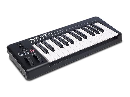 24 opinioni per Alesis Q25 Tastiera Controller USB MIDI con 25 Tasti Sensibili alla Dinamica +