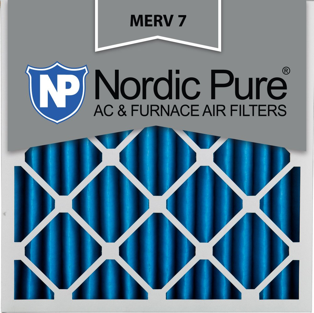 Nordic Pure 20x20x2M7-3 MERV 7 Pleated AC Furnace Air Filter, 20x20x2, Box of 3