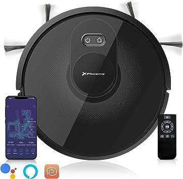 Phoenix Technologies - LaserBot360 Robot Aspirador Láser Inteligente, 2500 PA, Depósito de Agua Eléctrico, Lámpara UV, Control App: Amazon.es: Hogar