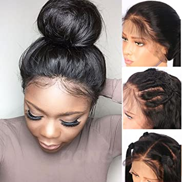 Straight 360 Lace Frontal Closure Human Hair Wigs For Women 10 Inches Brazilian Remy Hair Lace