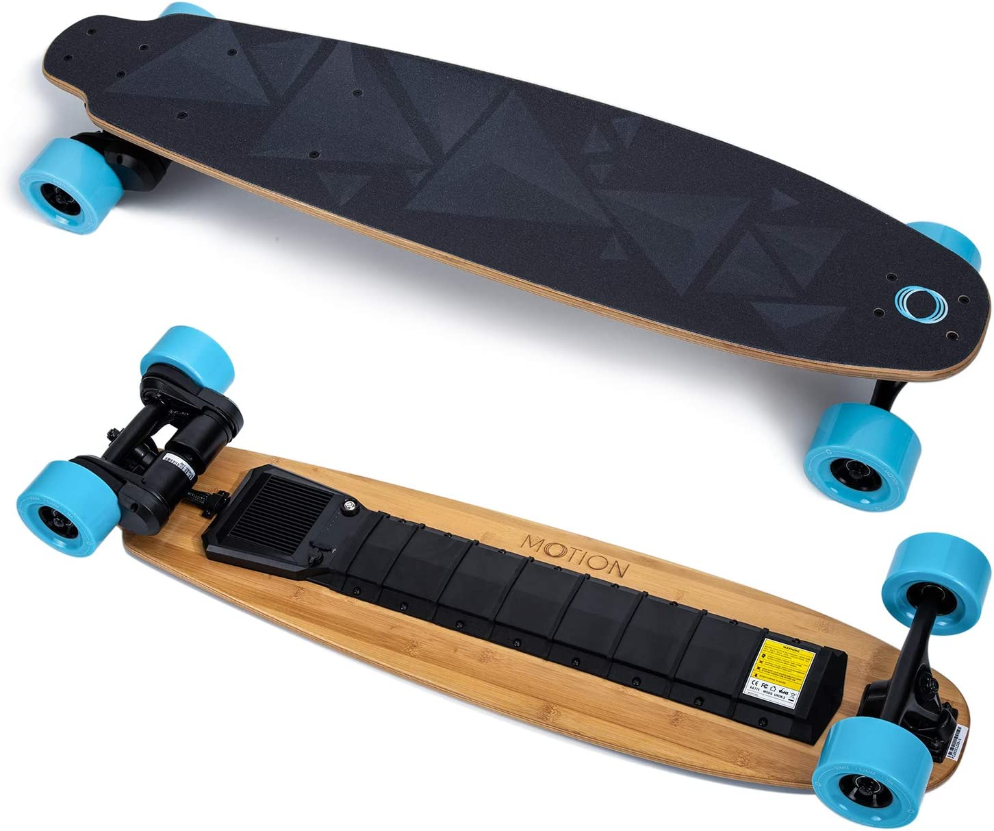 Motion 38 Inches Electric Skateboard and Longboard with Remote Controller Bamboo Deck 23 MP H Top Speed 10 Miles Range