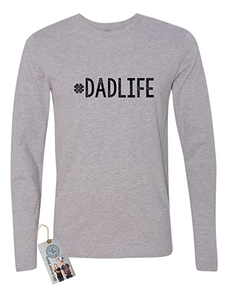 00a20295 #Dadlife Dad Gifts Fathers Day Mens Long Sleeve T Shirt Heather Grey M |  Amazon.com