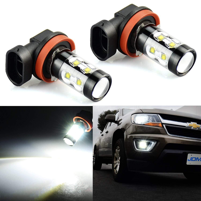 JDM ASTAR Extremely Bright Max 50W High Power H11 H8 LED Fog Light Bulbs for DRL or Fog Lights, Xenon White