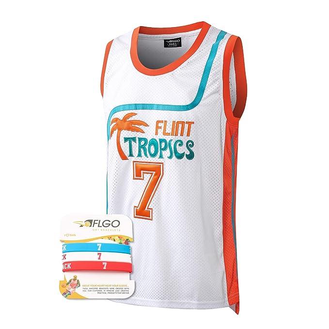 Micjersey Moon #33 Flint Tropics Basketball Jersey,Stitched Letters Numbers S-XXXL