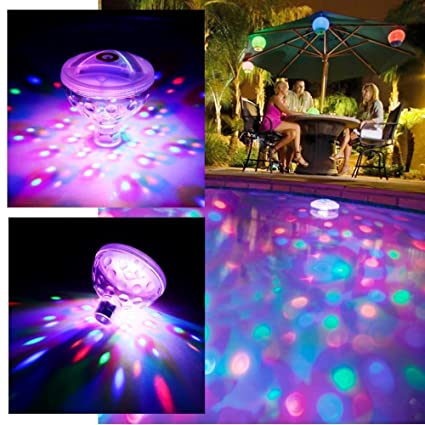 Amazon.com: MeeDoo Underwater Bath Light Show Colorful Floating ...