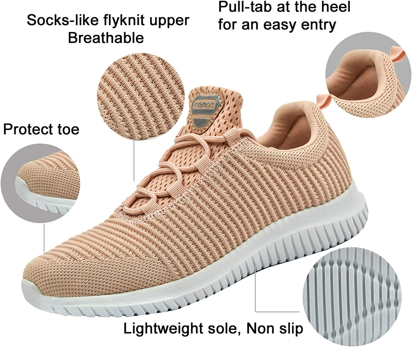 Slip-on Casual Shoes Women/'s Outdoor Gym Breathable Lightweight Running Sneakers