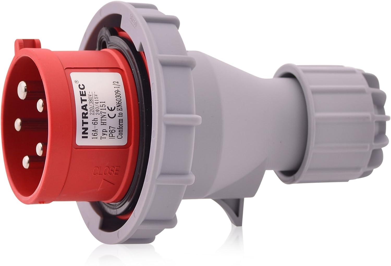 male IEC 60309 32A 400VAC plug 70242-6 Connector: AC supply 3-phase