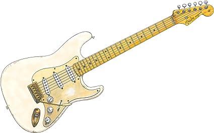 George Morgan Illustration Fender Stratocaster 0001 de David Gilmour IMPRESIÓN A1 del Cartel Tamaño: Amazon.es: Hogar
