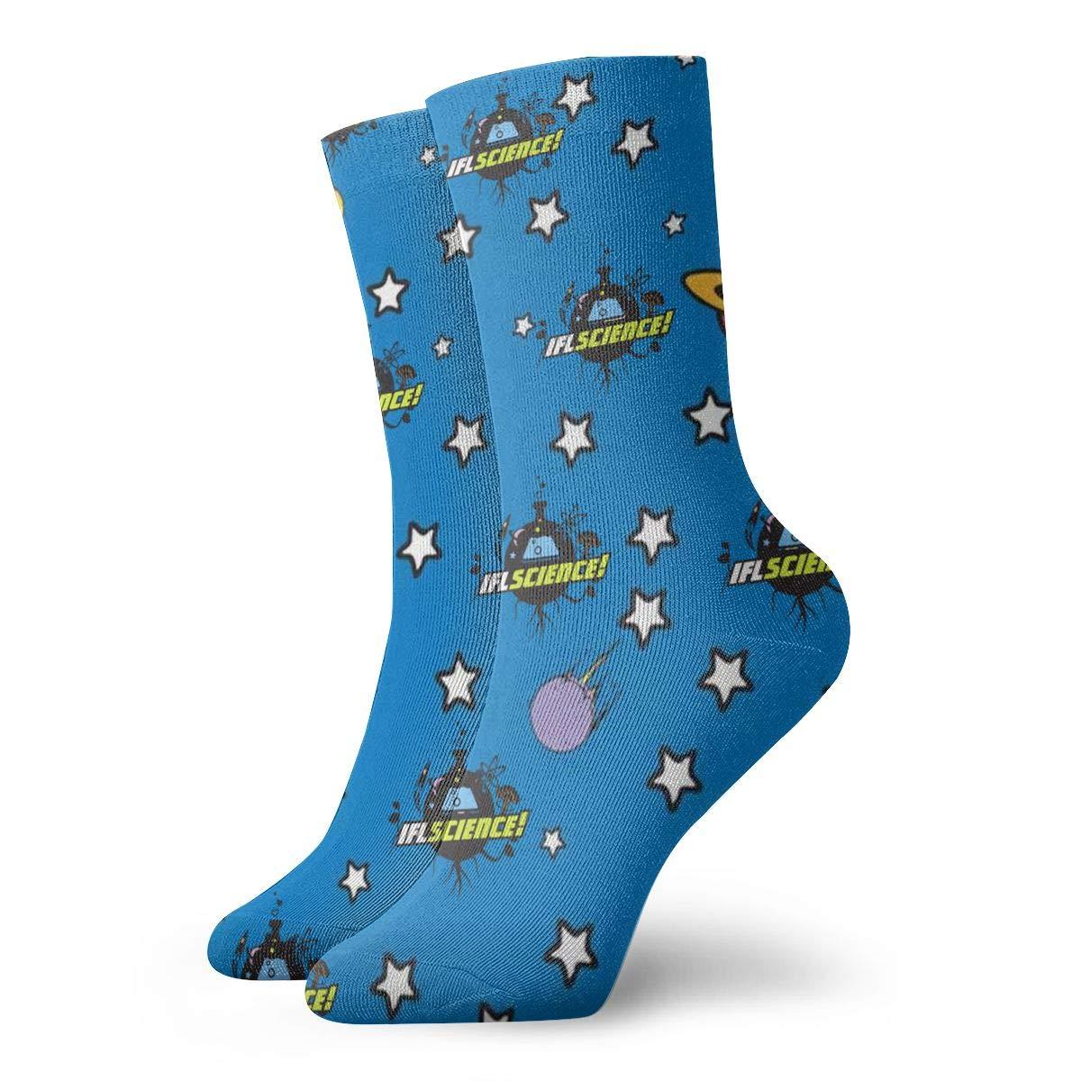 SESY Funny Scientist Unisex Crew Socks Short Sports Stocking