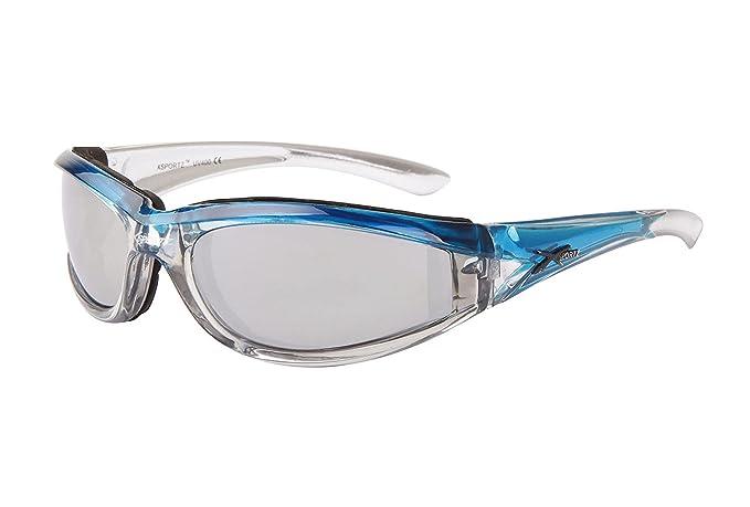 d52ea9e82e Bright Blue   Silver-tone Padded Motorcycle Sunglasses. Mirror Lenses. Women