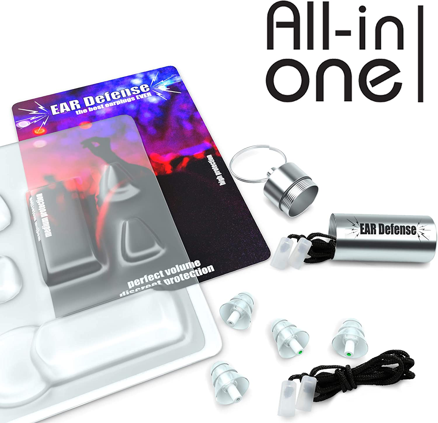 Earplugs for Concerts | Noise cancelling Ear Plugs for Musicians, DJ, Motorcycle | Noise Reducing for Drummers