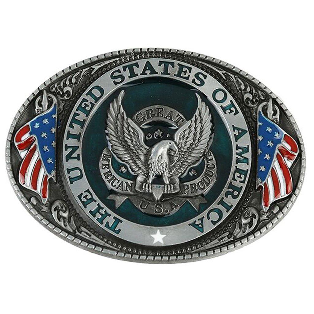 Sharplace 1pz Fibbie Per Cinture Occidentali Cowgirl Cowboy Accessori Cinturino Disegno Diffrenti 9x6cm