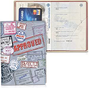 kwmobile Set de 1x Fundas Protectoras de Pasaporte - Protectores de Pasaporte con diseño 3D Approved - con Espacio para Tarjetas: Amazon.es: Equipaje