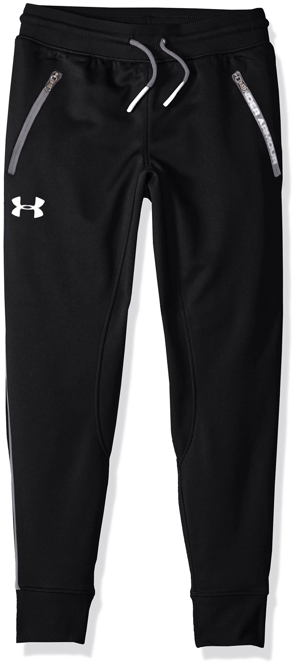 Under Armour Boys' Pennant Tapered Pant, Black/White, Youth Small