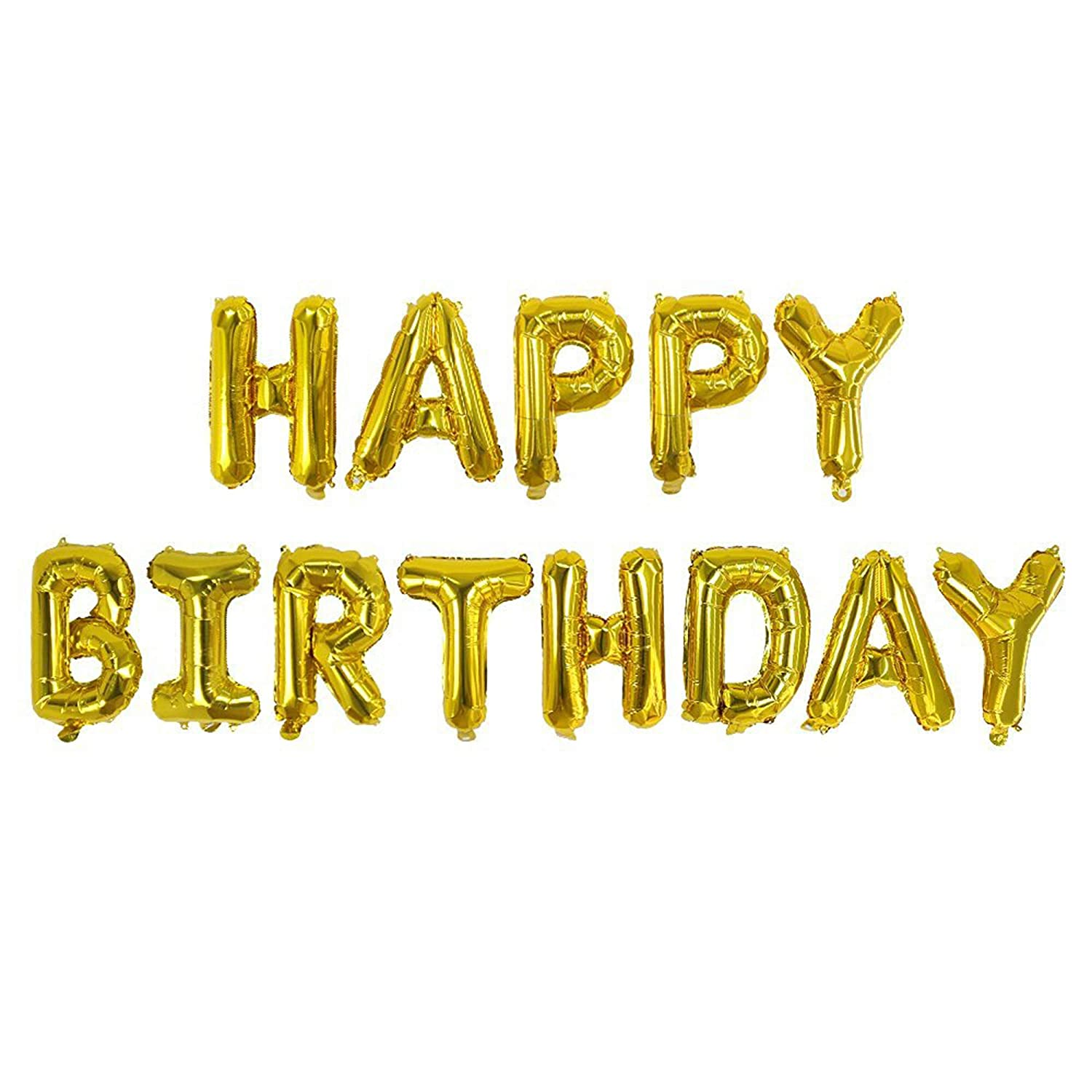 0a18975b86cb REDSTAR Happy Birthday Balloons - Self Inflating 16 Large Foil Banner  Balloons - Choose Colour (