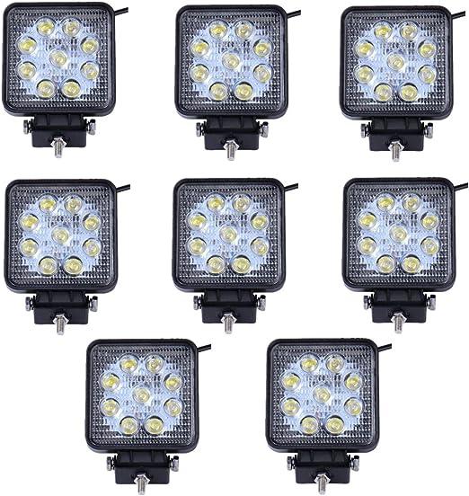 Tracteur BRIGHTUM 10 x 48W Offroad LED Lumi/ère Blanc 12V 24V 3800lm Projecteur r/éflecteur Worklight Phares de Travail travail SUV UTV ATV Lampe de travail
