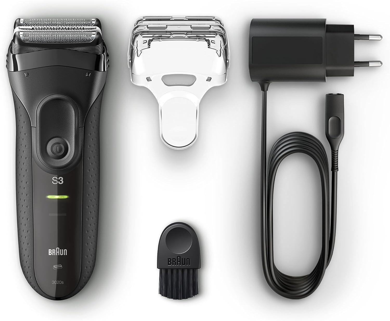 Braun Series 3 ProSkin 3020s Afeitadora Eléctrica Hombre, Afeitadora Barba Inalámbrica y Recargable, Máquina de Afeitar para Hombre, Negro: Braun: Amazon.es: Salud y cuidado personal
