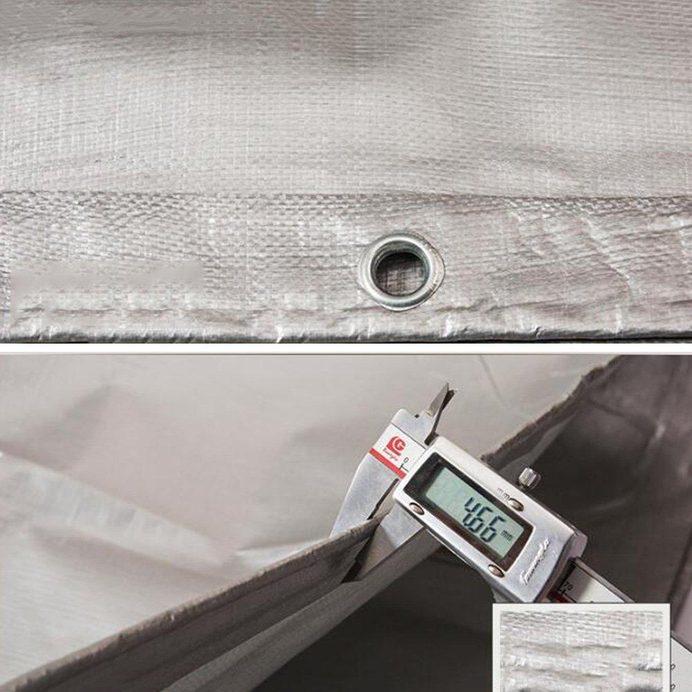 GLJ Gepolsterte Gepolsterte Gepolsterte Regendichte Tuch Plane Kunststoff Tuch Markise Tuch Sonnenschutz Sonnenschutz Tuch Auto Plane Farbe Bar Silber Plane (größe   3 x 4m) B07GKW4NCK Zeltplanen Modebewegung 39a3db