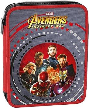 Estuche 2 Cremalleras Maxi Marvel , Avengers Infinity War , Multicolor , Pisos con Contenido: Lápices, Rotuladores ...: Amazon.es: Equipaje