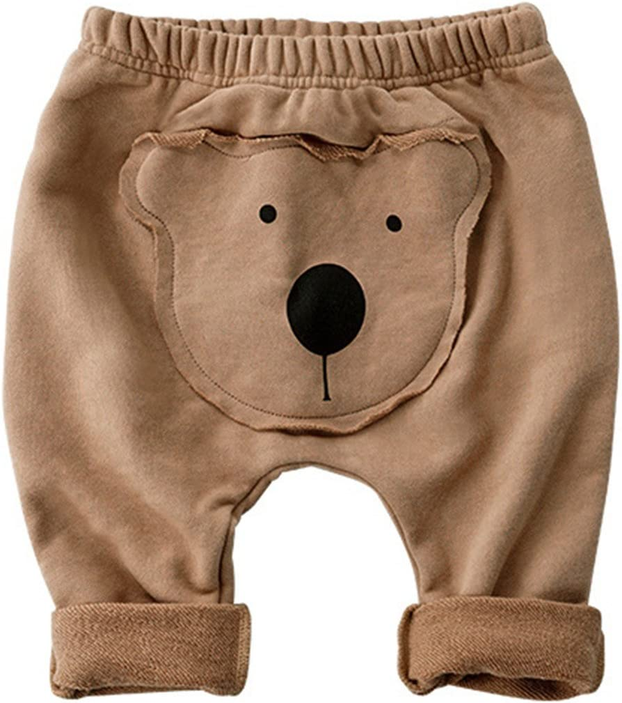Bambino Pantaloni Cotone Leggings Sportivi Pantaloni Ragazzi Ragazze Harem Sweat Pants Cartoon 3-6 Mesi