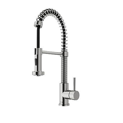 Vigo Industries VG02001ST Modern spiral Kitchen Pull Out Faucet ...