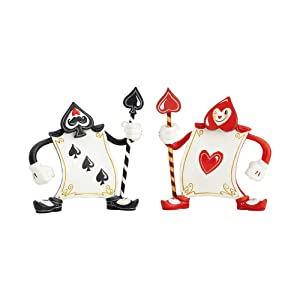 Enesco The World of Miss Mindy Alice in Wonderland Ace of Hearts and 3 of Spades Figurine, 5.31""