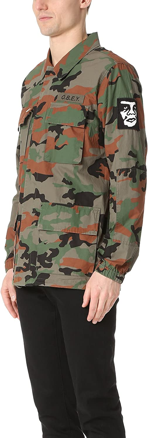 Obey Mens Tripper Military Jacket