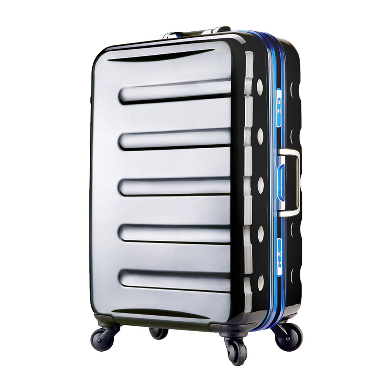 【レジェンドウォーカー】LEGEND WALKER スーツケース アルミフレーム 鏡面ボディ TSAロック 軽量 機内持込~大型 B0798KMXVQ Lサイズ(7泊以上/77リットル)|ブラック/ブルー ブラック/ブルー Lサイズ(7泊以上/77リットル)