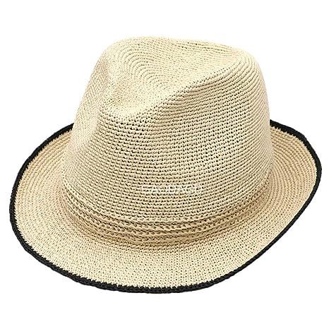 FWJ Sombrero de Paja Sombrero para el Sol Protección Solar ...