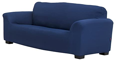 Belmarti Toronto - Funda sofa elástica Patternfit, 1 Plaza, color Azul