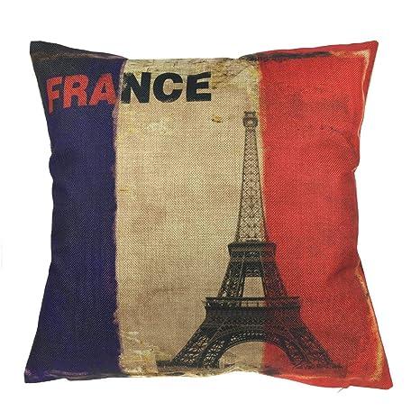 Ericcay Luxbon Francia Francia Bandera con París Torre ...