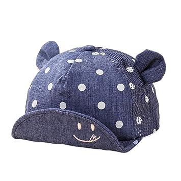 Amazon.com  Zhengpin Kids-Cap-Newborn-Toddler-Baby-Girl-Boy-Snapback -Baseball-Cap-Little-Ear-Hat  Baby 664cbfd65a78