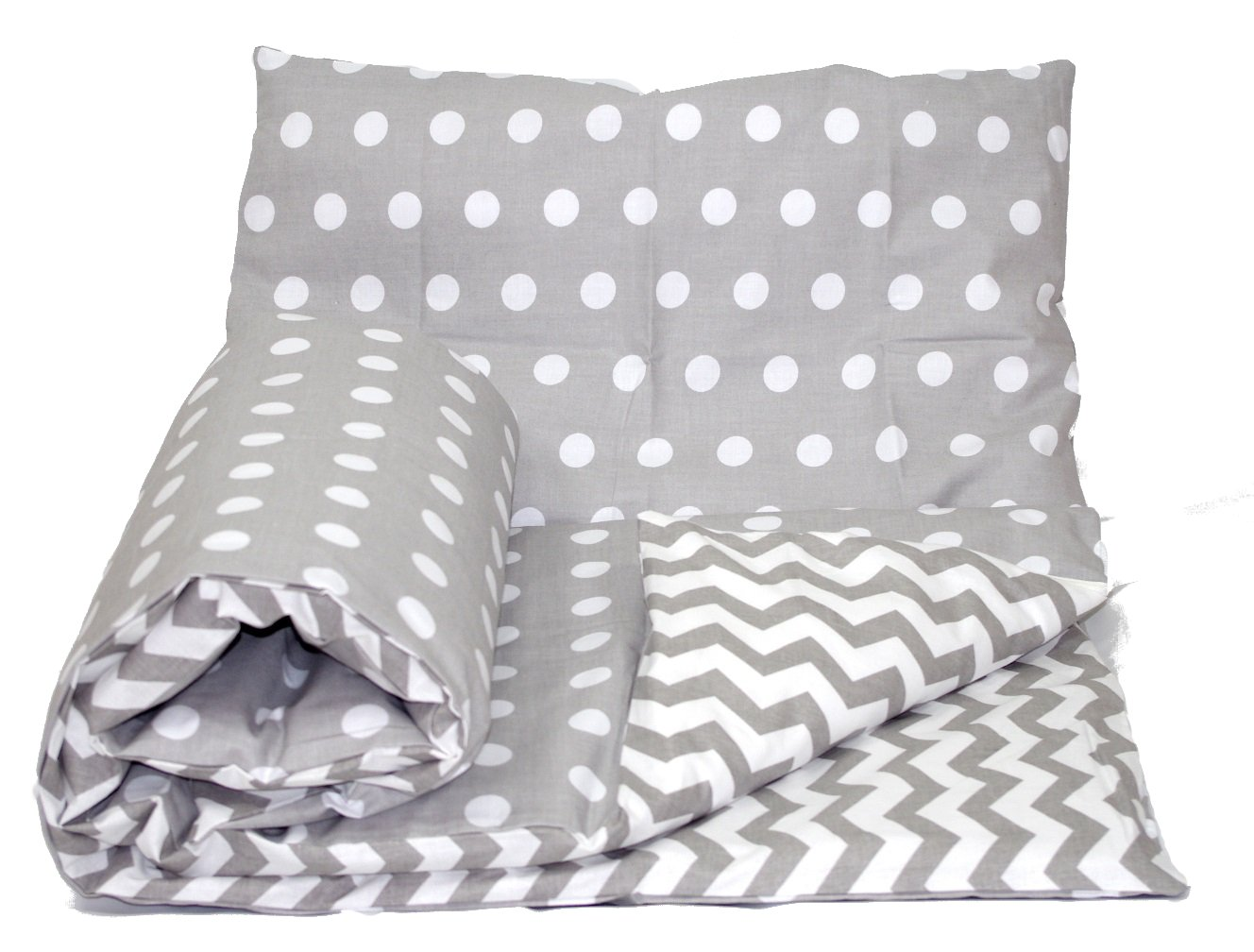PILLOWCASE 120x90cm for cots and cotbeds, 19 Babys Comfort REVERSIBLE 2pcs baby bedding set DUVET// QUILT COVER