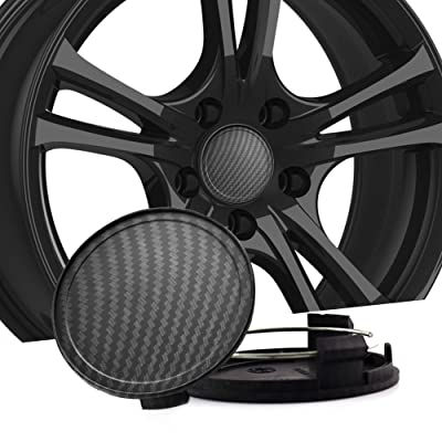 RTRHINOTUNING 75mm 69mm Carbon Fiber Grain Car Wheel Center Hub Caps Set of 4 for W219-CLS350 CLS55AMG W170-SLK200: Automotive